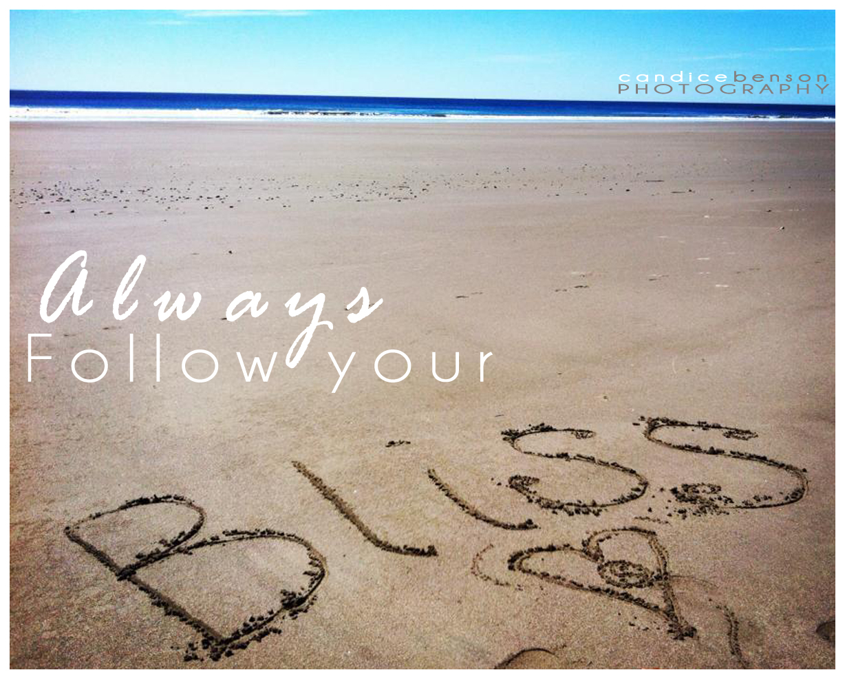 Always Follow Your Bliss.